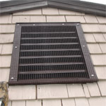 Same vent replaced, painted and Raccoon-proofed by BatGuys